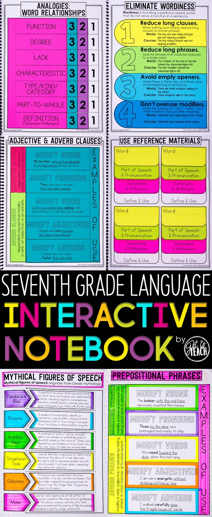 Seventh Grade Language Interactive Notebook. Cover all Common Core Language standards for 7th Grade in an engaging and memorable way. $