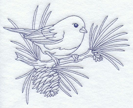 Junco Bluework Coloring Pages Digi Stamps Patterns