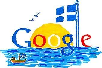 Ελλάδα μου, ήλιος και θάλασσα! My Greece, sun and sea! First prize for Doodle for Google.