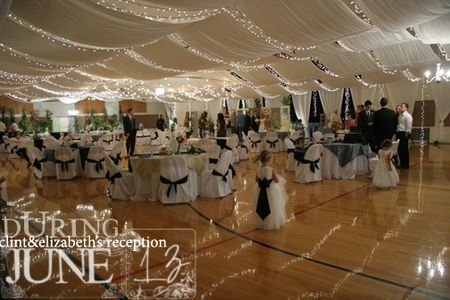 Wedding on a budget - a lot of people are turning to cheap/free wedding venues to help cut costs. Here is a great before and after of a gym reception.