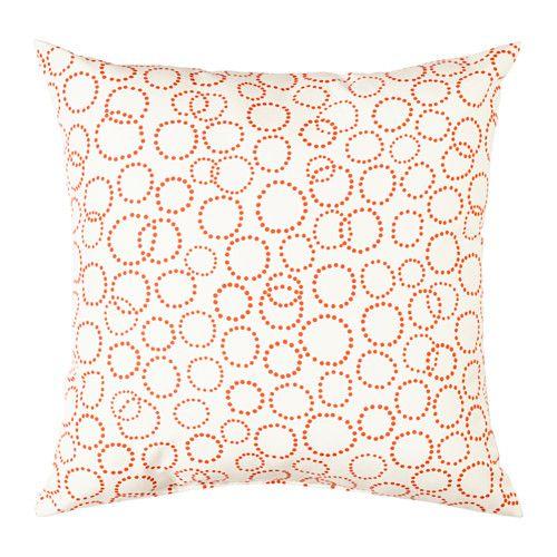 TRÄDASTER Kissen, weiß, orange weiß/orange 40x40 cm 0,99€!!!