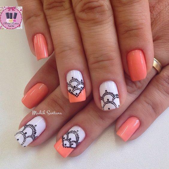 uñas decoradas blanco y rosa 50 diseños para enamorarse