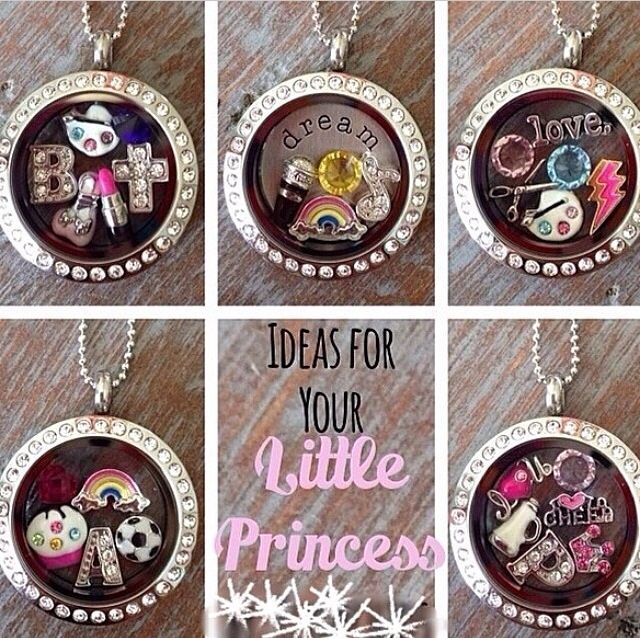 Origami Owl lockets for your little princess. Disney www.lesliejean.origamiowl.com