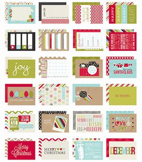 Simple Stories - SNAP Collection - 4 x 6 Cards - Christmas