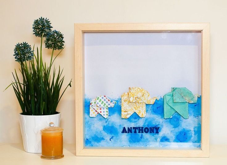 A personal favourite from my Etsy shop https://www.etsy.com/au/listing/590195513/personalised-origami-wall-frame-baby-boy