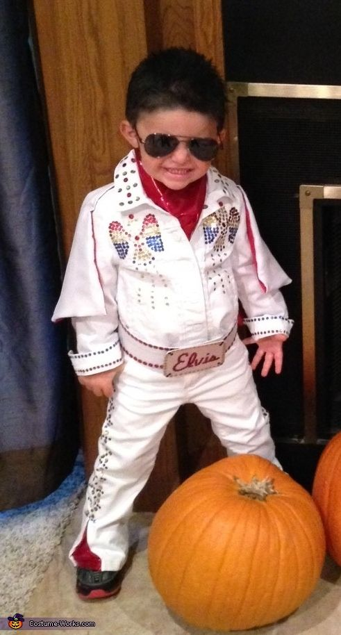 Kerri: My 3yr old son Kolsen is dressed in an Elvis costume I made. I went with Elvis this year because of how much my son loves to dance, he moves...