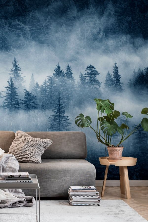 Rain Forest Clouds Wallpaper Christmas Tree Photography Christmas Tree Wallpaper Tree Wall Murals