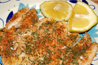 1/2 c. butter 2 tbsp. lemon juice 1/4 tsp. garlic salt 1/2 tsp. dried parsley 1/8 tsp. paprika 1/4 tsp. ground pepper 2 lbs. grouper fill...