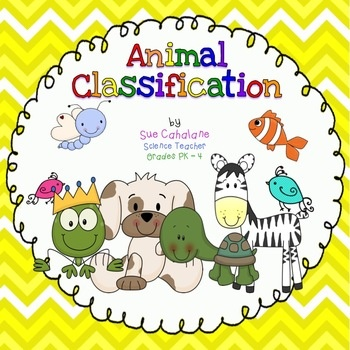 Animal Classification Activity Packet $7
