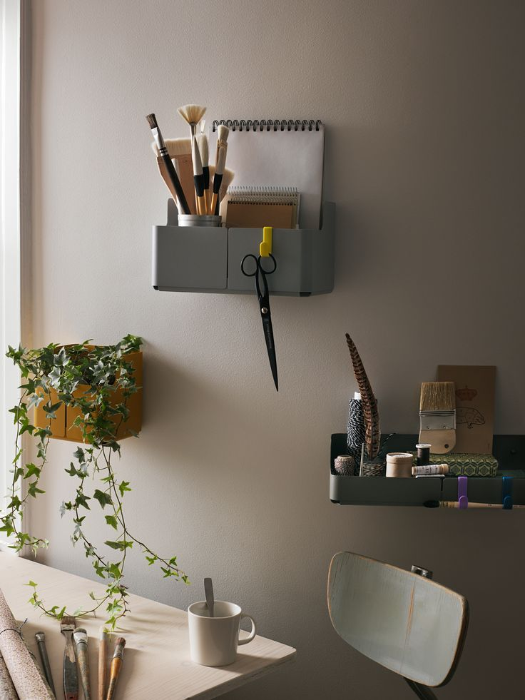 Aitio by Iittala. The designer Cecilie Manz has produced a collection of small, playful functional storage solutions for walls. Aitio can be mounted on the wall as a single piece where small, targeted storage is needed. Also the user can create his or her own larger system, for example in the kitchen or office incorporating any combination of the shelf, hooks or high-rise or low-rise boxed-in shelves.