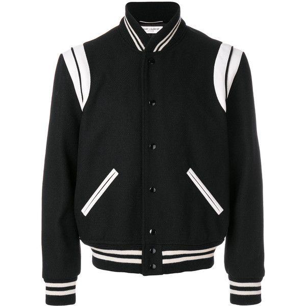 Saint Laurent Black Parka ($2,400) ❤ liked on Polyvore featuring men's fashion, men's clothing, men's outerwear, men's coats, black and mens parka coats