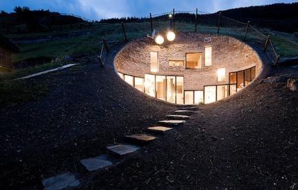 underground: Architects, Hobbit Hole, Hobbit Home, Underground Home, Villas, Mountain Home, Architecture, Hobbit House, Mountain House