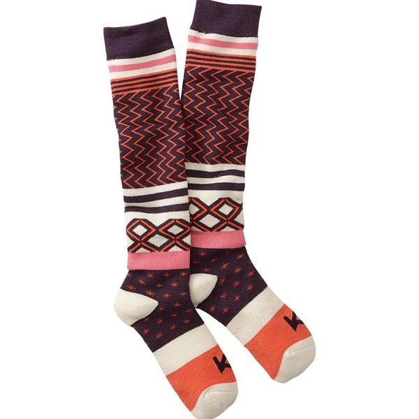 Kari Traa Slalom Ski Sock ($24) ❤ liked on Polyvore featuring intimates, hosiery, socks, padded socks, ski socks, padded ski socks, kari traa and cushioned socks