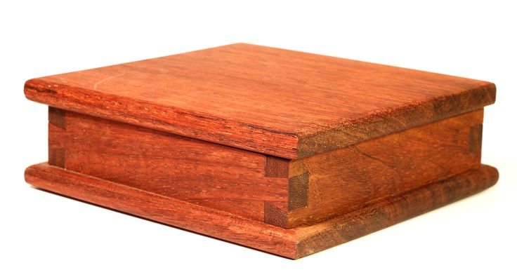 Shaker style dovetail jewelry box made from scrap merbau deck wood 100% with…