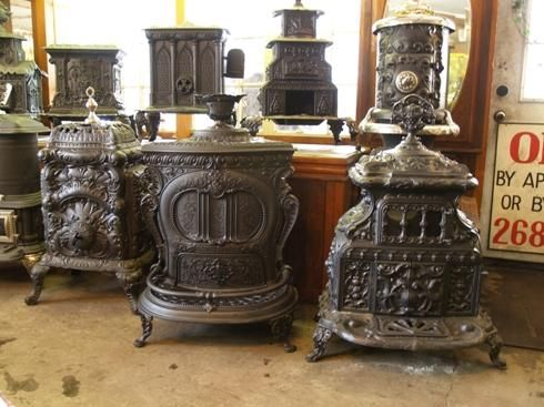 vintage cast iron wood stove | early victorian style stove antique cast iron stoves come in many ...