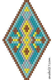 схемы бисер бисероплетение серьги кирпичиком мозаика бисер