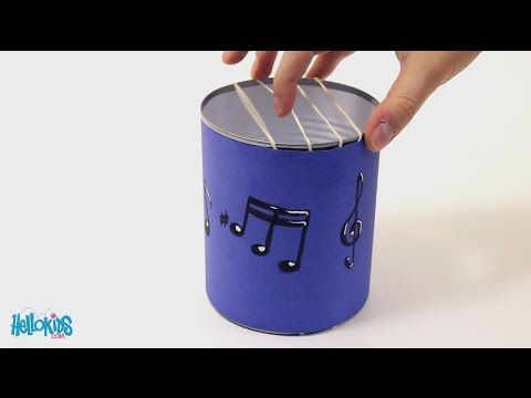 Fabriquer une Guitare avec une boîte de conserve (Hellokids) - YouTube