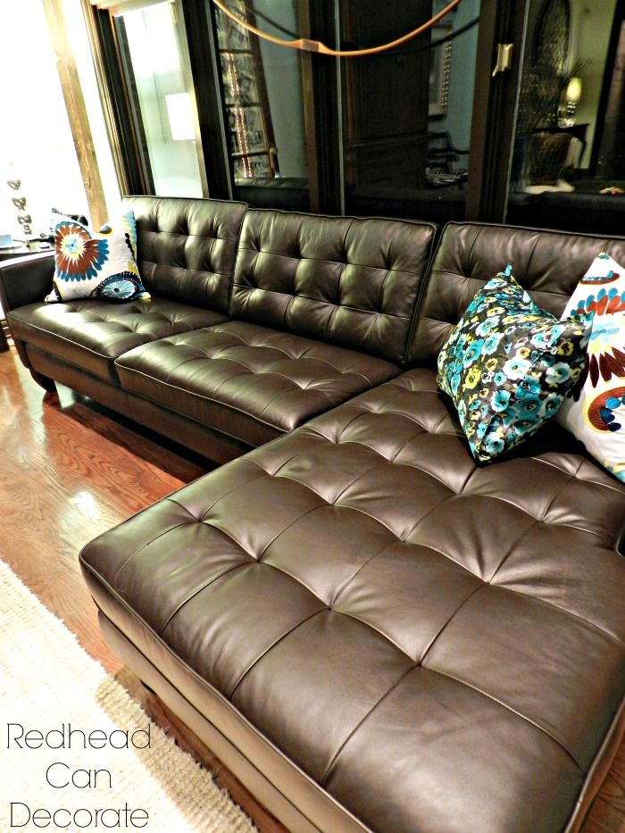 Best Brown Leather Sectional Ever