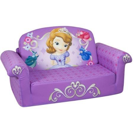 Marshmallow 2-in-1 Flip Open Sofa, Disney Sofia the First
