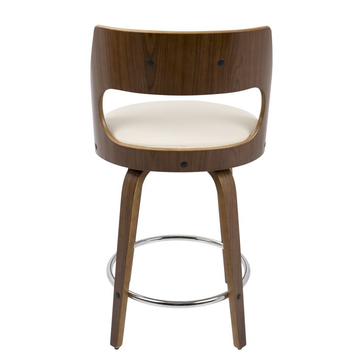 Cecina Mid-Century Modern 24 inch Counter Stool by LumiSource - 20253990 - Overstock - Great Deals on LumiSource Bar Stools - Mobile
