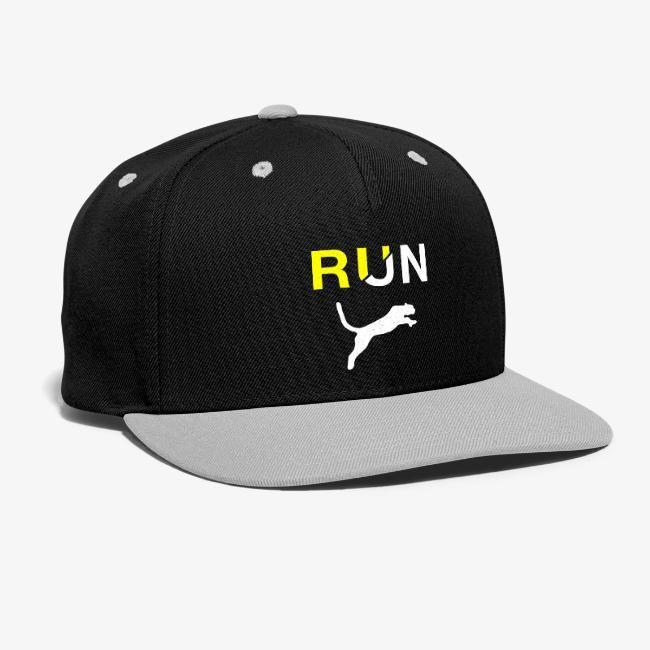 Running Jaguar Motivational For Running Snap Back Baseball Cap Motivational Tees Baseball Cap Unique Tshirts