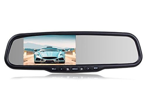 """AUTO-VOX Dual Video Inputs 4.3"""" HD Rearview Mirror Monitor Dash Camera with Car Recorder and Reverse Parking System for Volkswagen Ford Toyota and Most Car Model and 32GB Micro-SD Card Included 