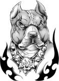 Classic Urban Pit Bull Tattoo