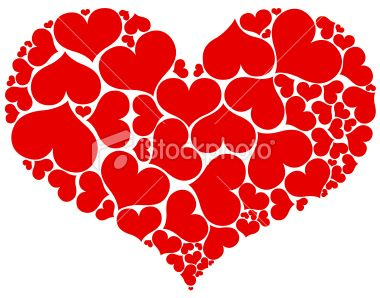 Red heart shape Royalty Free Stock Vector Art Illustration