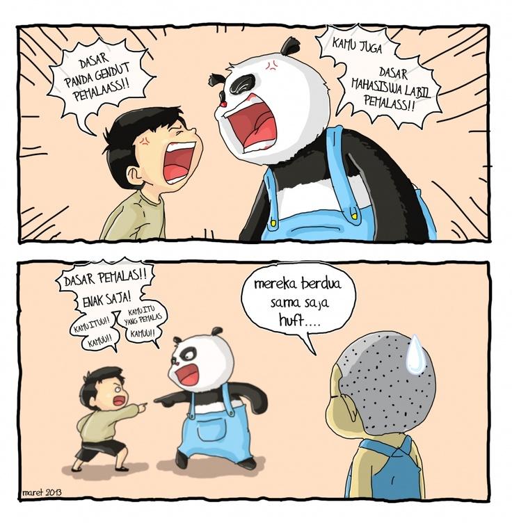Panda vs You, late night humor by @JekyTrendi #cartoon #Indonesia