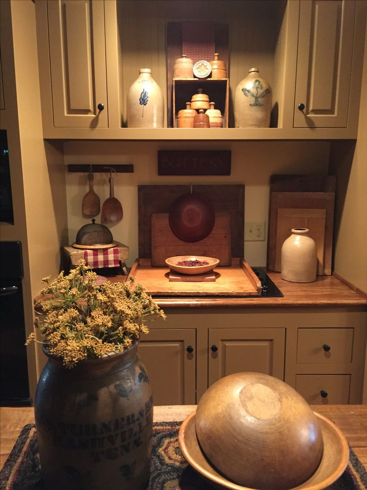 622 best images about Primitive/Colonial Kitchens on Pinterest