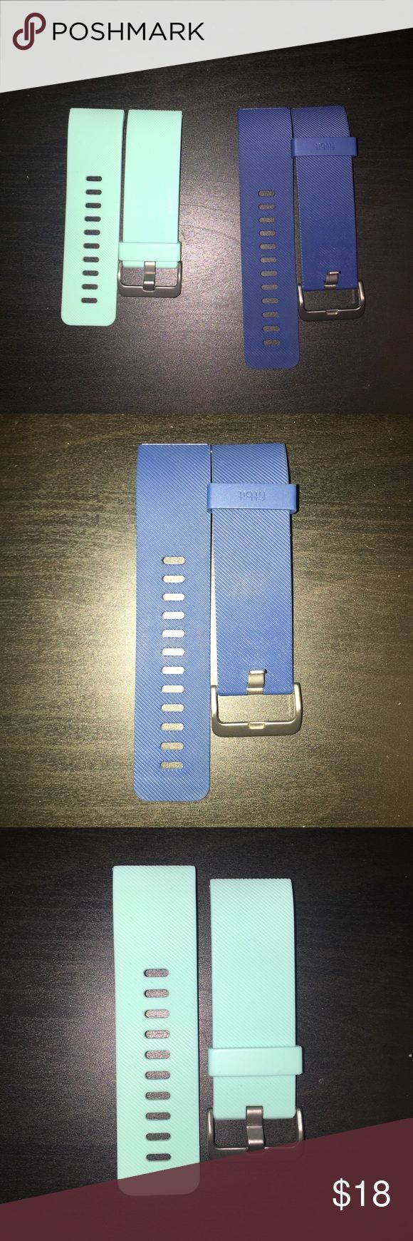 Fitbit bands Colors: Turquoise (size S) and navy blue (size L) fitbit Accessories Watches