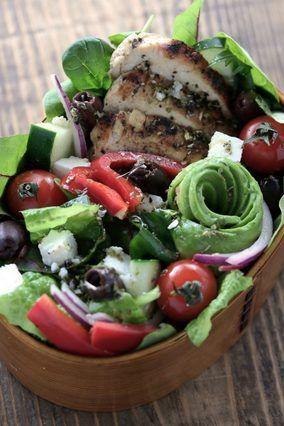 グリルチキンのギリシャサラダ弁当|レシピブログ