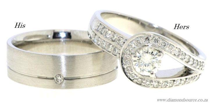 Wedding Set – His and Hers -  E: info@diamondsource.co.za W: www.diamondsource.co.za T: 011 484 7349