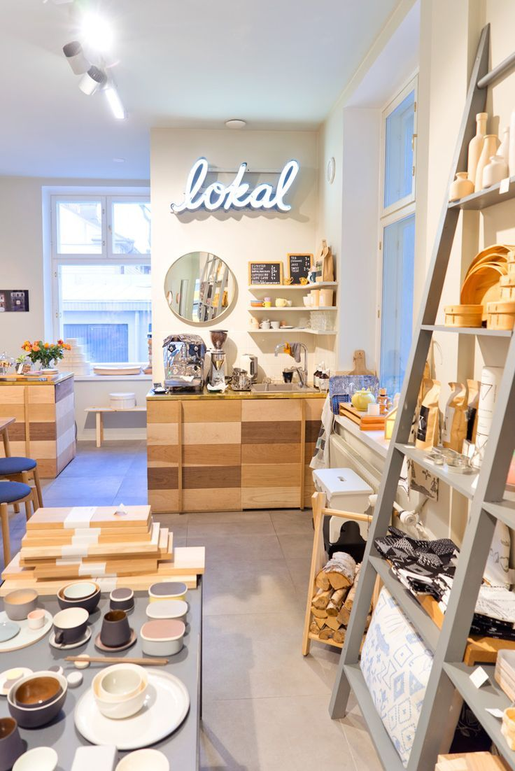 """In the middle of Design District Helsinki you can find this Design gem called Lokal. They call themselves a """"concept store and home to Finnish art, design and craft"""". Lokal is a mix of an art gallery, design shop and coffee corner, run by photographer Katja Hagelstam."""