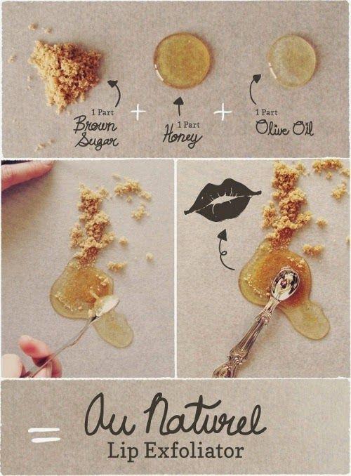 Exfoliante casero para labios