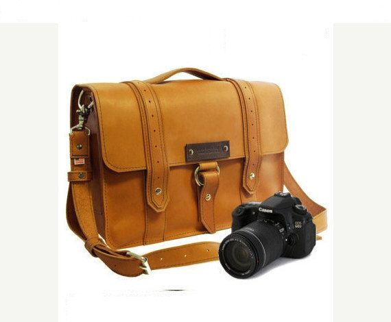 14 Sunrise Newport Voyager Leather Camera Bag  by CopperRiverBags, $151.00
