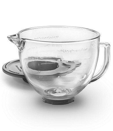 5qt glass Kitchen Aid Accessory Bowl