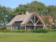 Vorm van het woning / dak, overlap aan de achterkant en glas in het midden van de woning