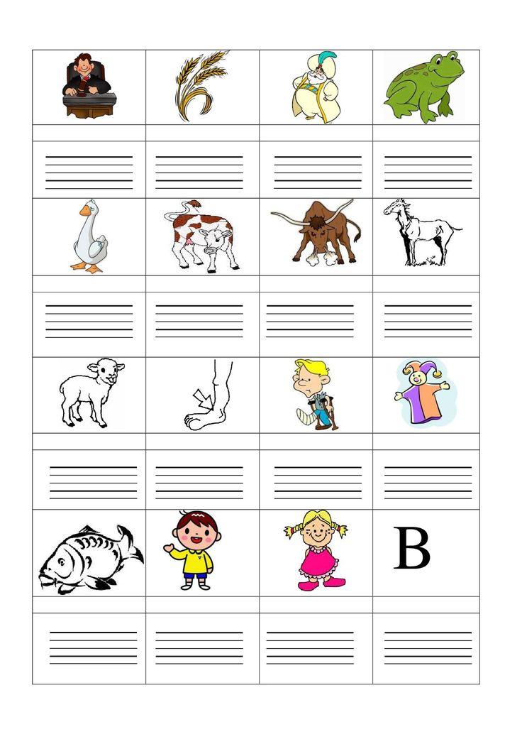 b írása 2. A kép alatt hangokra kell bontania a szót, majd ezután alá le is írja.