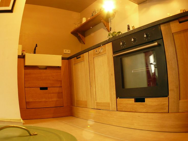 Oak solid wood custom kitchen.