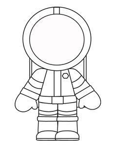 Printable template - Great way to get ready to play and imagine yourself as an astronaut!
