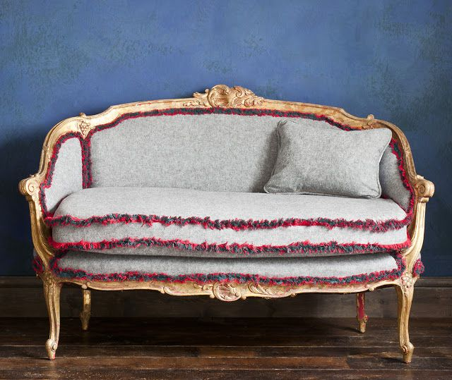 Annie Sloan Paints Everything gilded sofa project