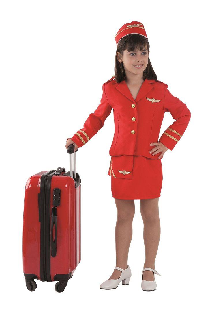 Traje de azafata de avión para niña   Comprar