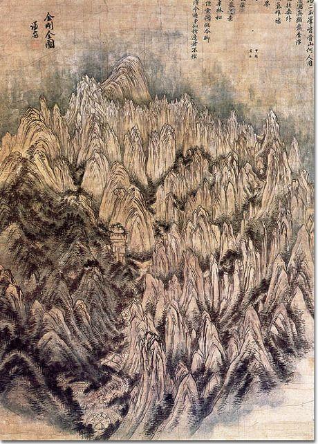 금강전도, 국보,  호암미술관