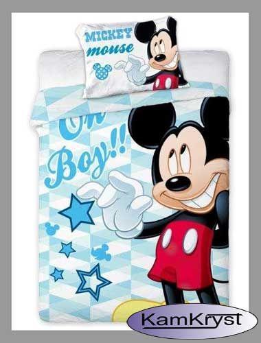 Pościel do łóżeczka z Myszką Miki w rozmiarze 100x135 cm - 100% bawełna #pościeldołóżeczka