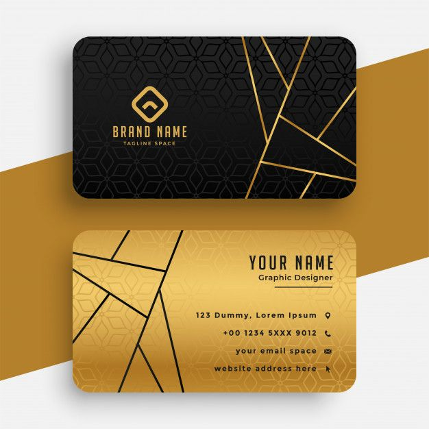 Download Black And Gold Luxury Vip Business Card Template For Free Gold Business Card Luxury Business Cards Modern Business Cards