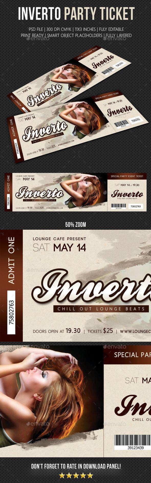 Inverto Party Event Ticket V2
