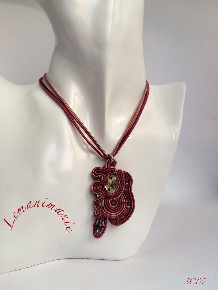 #ciondolo #soutache #rosa, by Lemanimanie, 28,00 € su misshobby.com