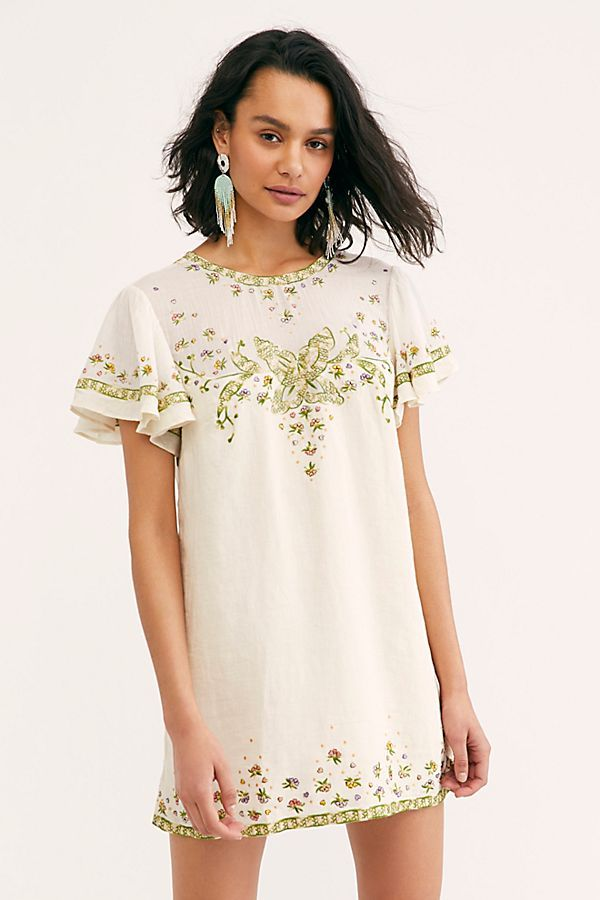 ed88b6bae68df Sweet Nothing Shift Dress - White Short Sleeve Shift Dress with Floral  Embroidery - Embroidered Shift Dress - Floral White Shift Dress - Formal  Shift ...