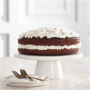 Cake Decorating Icing With Crisco : Sweet chocolate buttermilk cake with creamy coconut ...